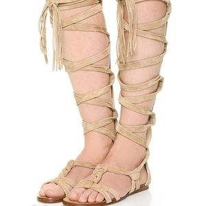 Sigerson Morrison knee high Gladiator sandals NWOT